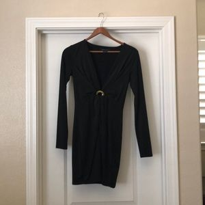 Marciano black bodycon dress